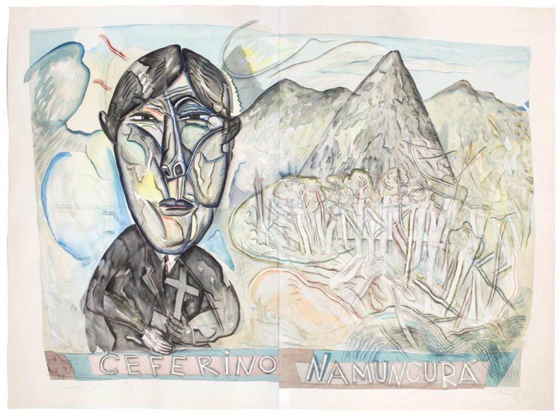 Luis. F. Benedit. Ceferino, 1991. Acuarela sobre papel. 132 x 188 cm.
