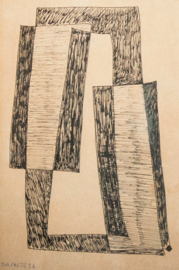 Juan Del Prete. Planos. 1936. Ink on paper. 31,5 x 21 cm.