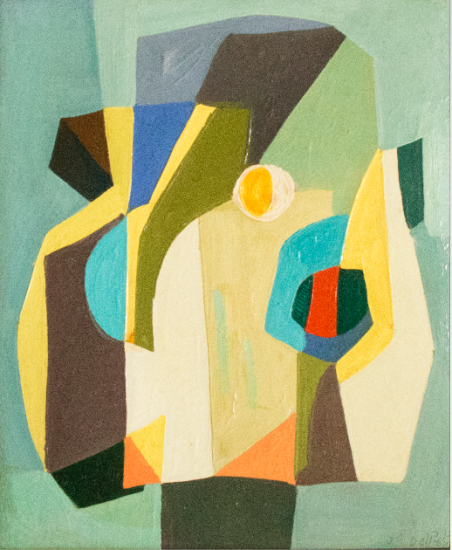Juan Del Prete. Untitled, 1950. Oil on hardboard. 60,5 x 50,5 cm.