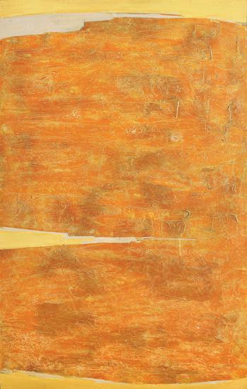 Kenneth Kemble. Mandarina, 1961. Óleo y enduido sobre hardboard. 150 x 90 cm.