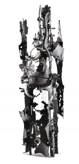 Aldo Paparella. Sin título, c. 1960/65. Escultura en hierro. 97 x 30 x 30 cm.