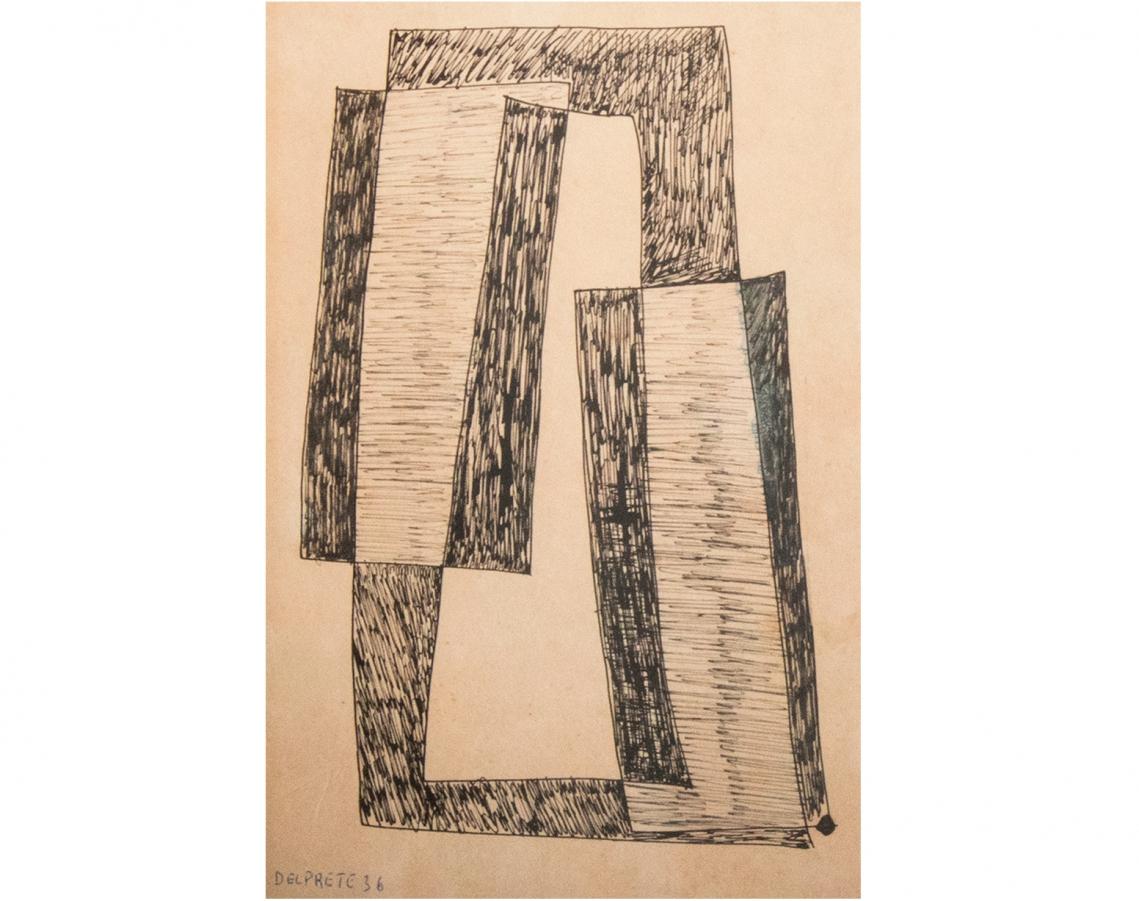 Juan Del Prete. Planos, 1936. Tinta sobre papel. 31,5 x 21 cm.