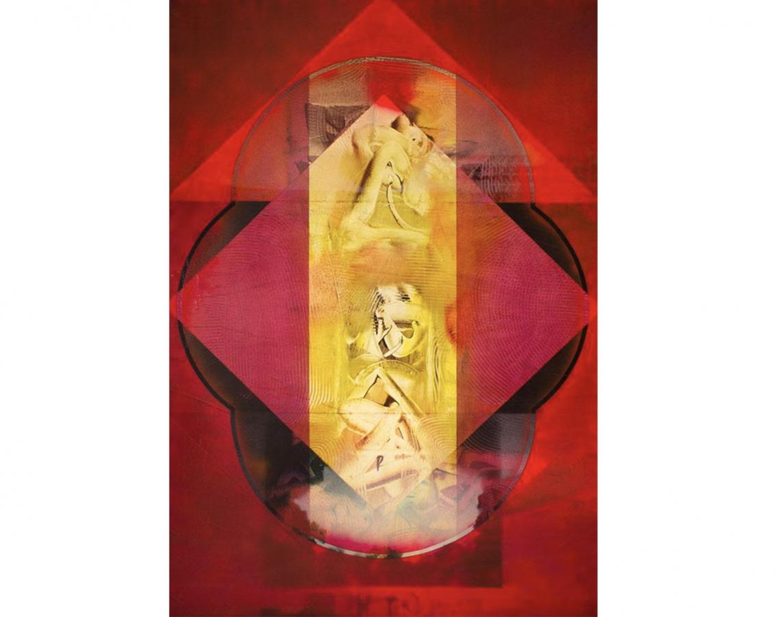Rogelio Polesello. Último grito Lota, 1963. Acrílico sobre tela. 195 x 130 cm.
