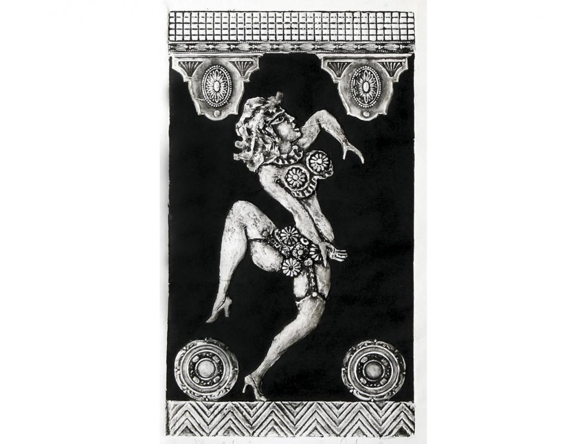 Antonio Berni. Ramona bailarina, c.1965. Gofrado. 45 x 28 cm.