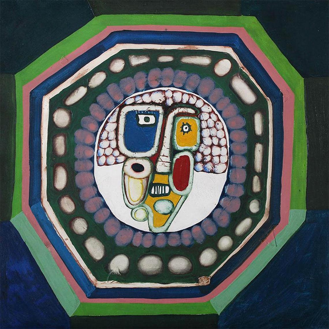 Luis F. Benedit. Niña con lunar, 1964. Óleo y esmalte sobre tela. 65 x 65 cm.