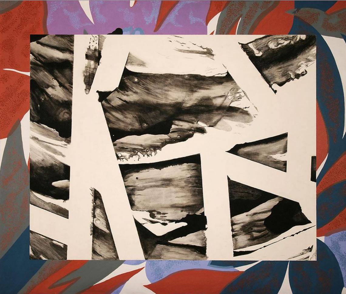 Kenneth Kemble. Sin título, 1990. Acrílico sobre tela. 82 x 96 cm.