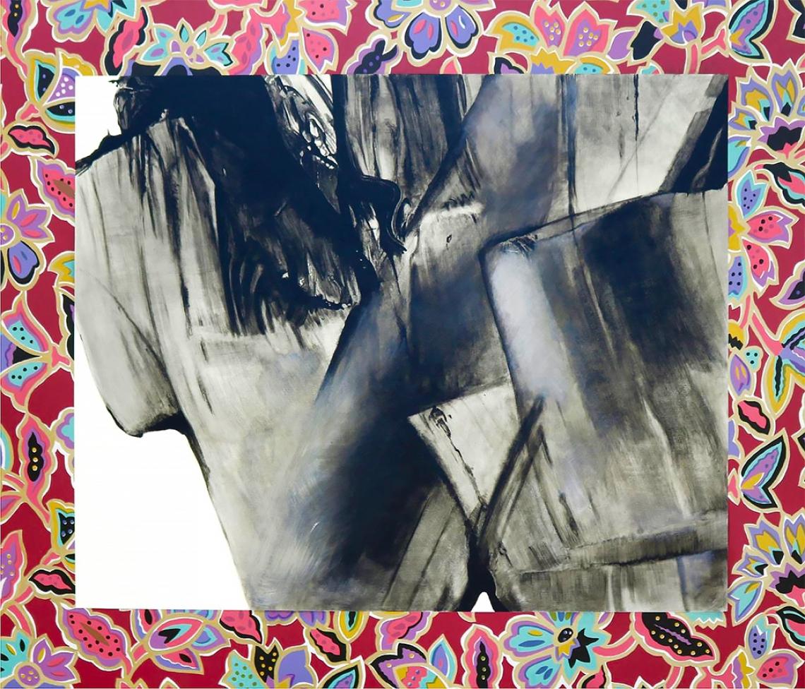 Kenneth Kemble. Sin título, 1990. Acrílico sobre tela. 150 x 173 cm.