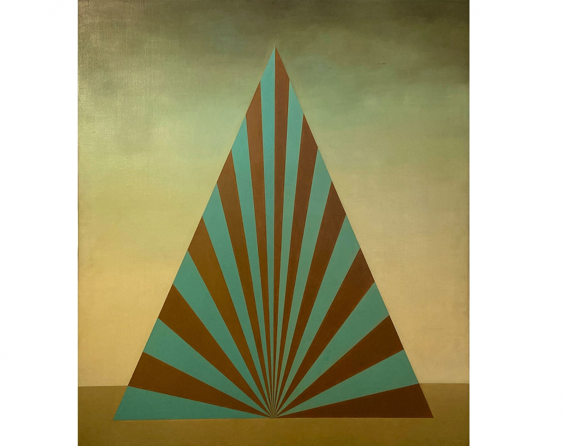 Roberto Aizenberg. Pintura, 1973-75. Oil on canvas mounted on wood. 100 x 87 cm.