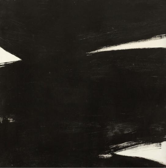 Kenneth Kemble. Sin título, 1960. Óleo sobre tela. 120 x 120 cm.
